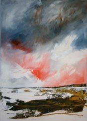 """Mary Tritschler """"Back Strand Saleens"""" - Oil on linen - 140x100cm"""