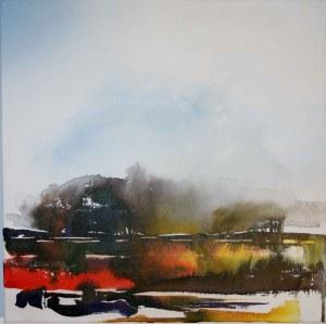 "Mary Tritschler ""Kerry landscape 2"" - Ink mixed media - 40x40cm"