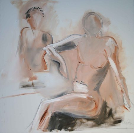 "Mary Tritschler ""Life Study 1"" - Oil on Linen - 120x120cm"