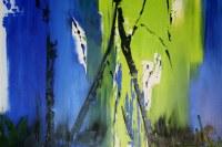"Mary Tritschler ""Spring light between the trees"" - Oil on linen - 120x100cm"