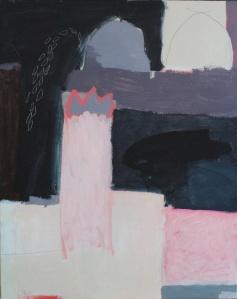 'A Yellow Mans Tears', Acrylic and pencil on canvas, 100cm x 70cm