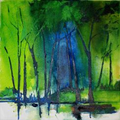 "Mary Tritschler ""Woods Derrynane""- Oil on linen - 40x40cm"
