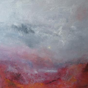 "Linda Graham ""Our Star"", Oil on canvas 100cm x 100cm"