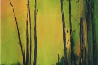 """""""Annaghmakerrig"""", oil on linen, cm 140x100"""