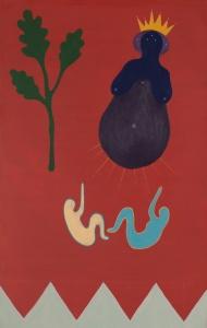 """Ronan O'Reilly, """"Brigid"""", 45 x 35 cm, Acrylic on canvas"""