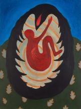 """Ronan O'Reilly, """"The Death of Cúchulainn"""", 120 x 90 cm, Acrylic on canvas"""