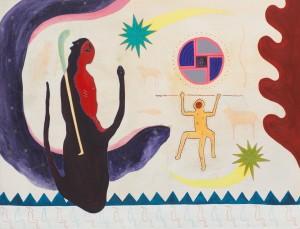 """Ronan O'Reilly, """"The Rising Sun"""", 86.5 x 66 cm, Acrylic on canvas"""