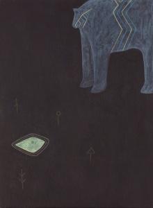 "Ronan O'Reilly, ""Worship"", 30 x 22 cm, Acrylic on wood"