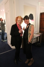 Noelle Campbell Sharp with wonderful young artist Natasha Pike - direct descendent of The Liberator, Daniel O Connell.
