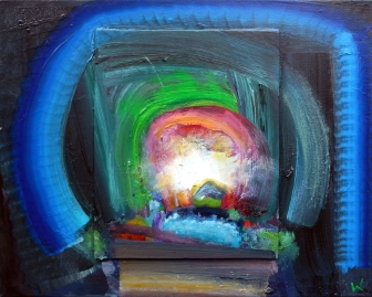 Patrick Walshe 'Afterlight 4', 50 x 40cm, oil on canvas and board