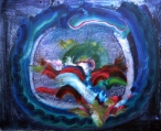 Patrick Walshe, 'Night in the Garden', 100 x 80cm, oils on silver leaf on canvas