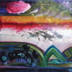'Nocturnes VII - You Haven't Cried Today' 60 x 60cm oil on canvas