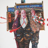 Andrew Painter, ''All good fun...' Acrylic on canvas, 70 x 70cm