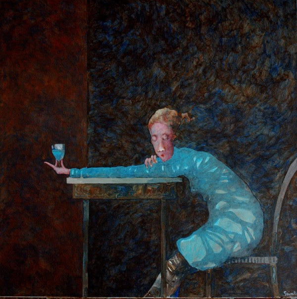 Andrew Painter, 'Dreaming Intently of a Blue Drink That Might Appear.' Acrylic on canvas, 80x80cm