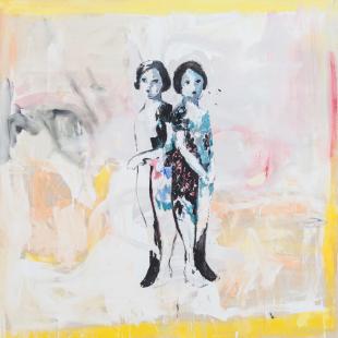 Katarzyna Gajewska, 'Ceramic Rose' Acrylic on canvas 140 x 140 cm