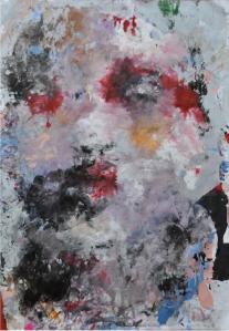Katarzyna Gajewska, 'Floating Gardenias II', Acrylic on paper, 100 x 70 cm