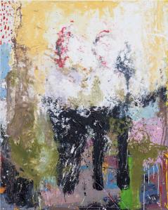 Katarzyna Gajewska, 'Laughing Gas' Mixed media on canvas 150 x 120 cm