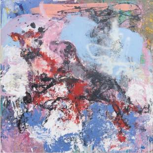 Katarzyna Gajewska,'Love' Acrylic on canvas, 140 x 140 cm