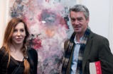 "Artist Katarzyna Gajewska with ""Floating Gardenia"" and Alan Morton Katarzyna Gajewska, polish art, art exhibition, art opening, Origin gallery Dublin"