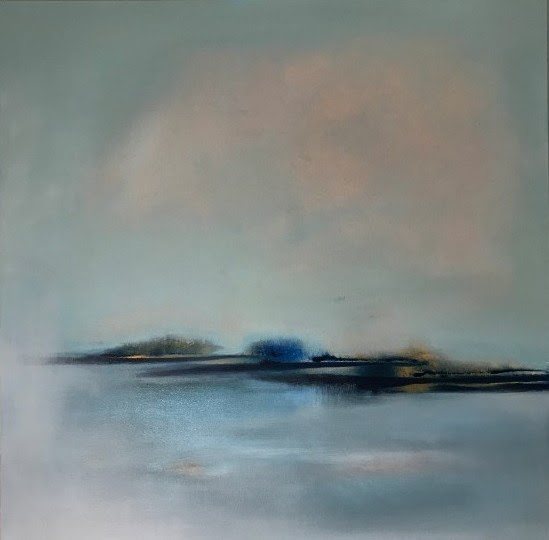 'Sky Over The Estuary', Oil in linen canvas, 100 x 100cm