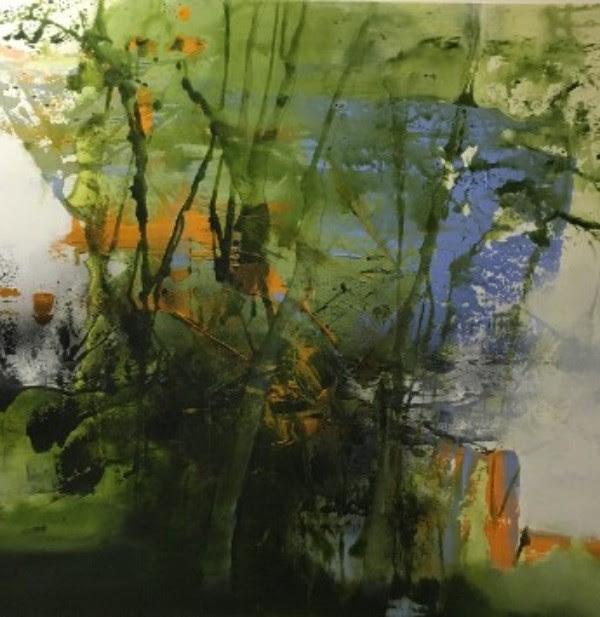 'Into the Woods', Acrylic on linen canvas, 100cm x 100cm