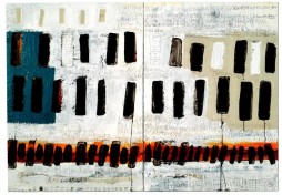 GARY ROBINSON_'Big Questions, Big Answers', 6' 0 x 4 6, gesso, acrylic, indian ink, pencil on canvas