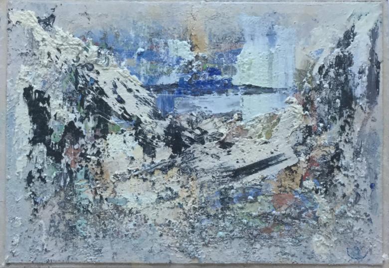 JOHN KINGERLEE_'Entrance', Oil on board, 42 x 29cm