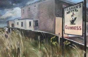 Eithne Healy, 'Teehan's Bar, Cromane', Oil on canvas, 60 x 90cm