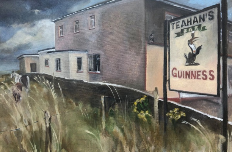 Eithne Healy, 'Teehan's Bar, Cromane', Oil on canvas, 60 x 90cm