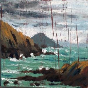 Rod Coyne, 'Winter Seahorse', Oil on canvas, 80 x 80cm